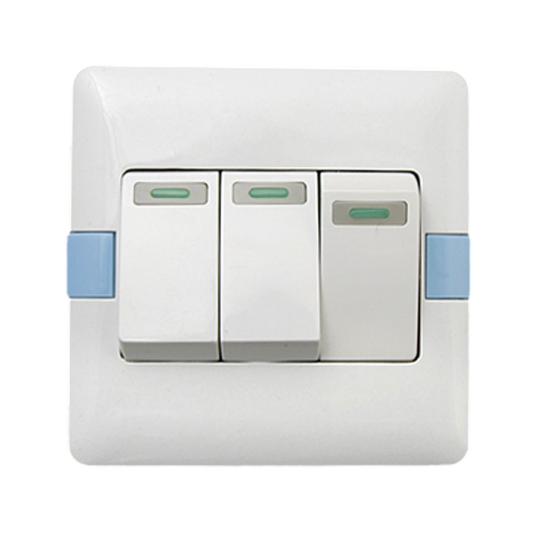 3 Gang Light Switch Wall Plate White(16A 250V)