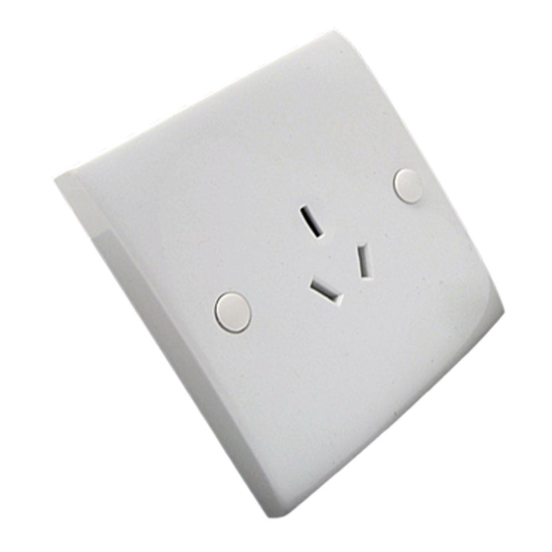 White 3 Pin Australia AU Socket Outlet Wall Plate Panel 10A 250V