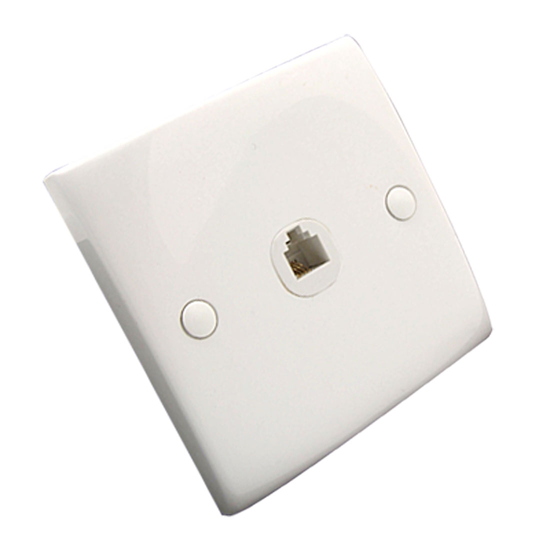 Single Gang 4 Pin RJ11 Telephone Female Jack Outlet Wall Plate