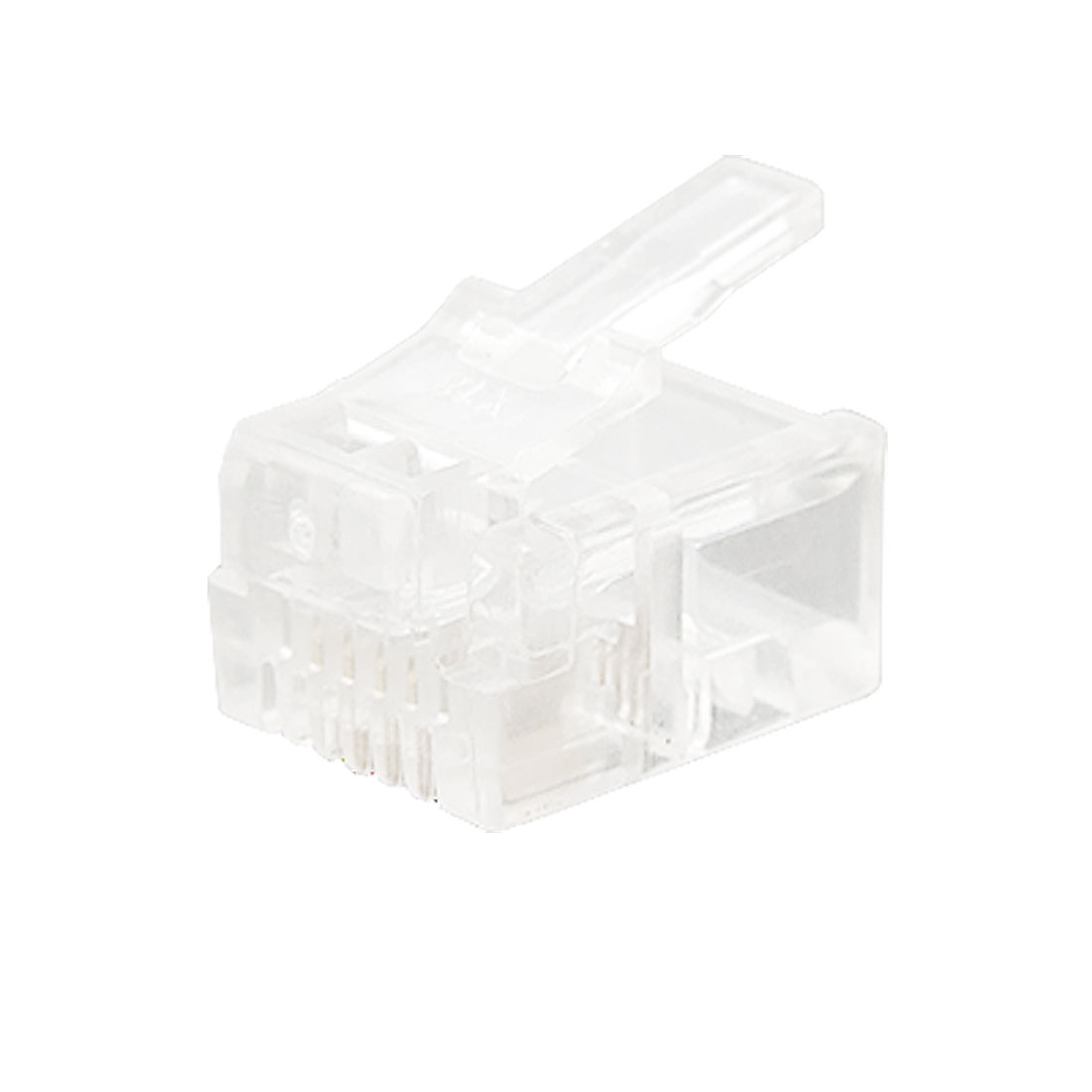 100 PCS Clear RJ11 RJ-11 Modular Plug Telephone Connector 6P4C Cat3