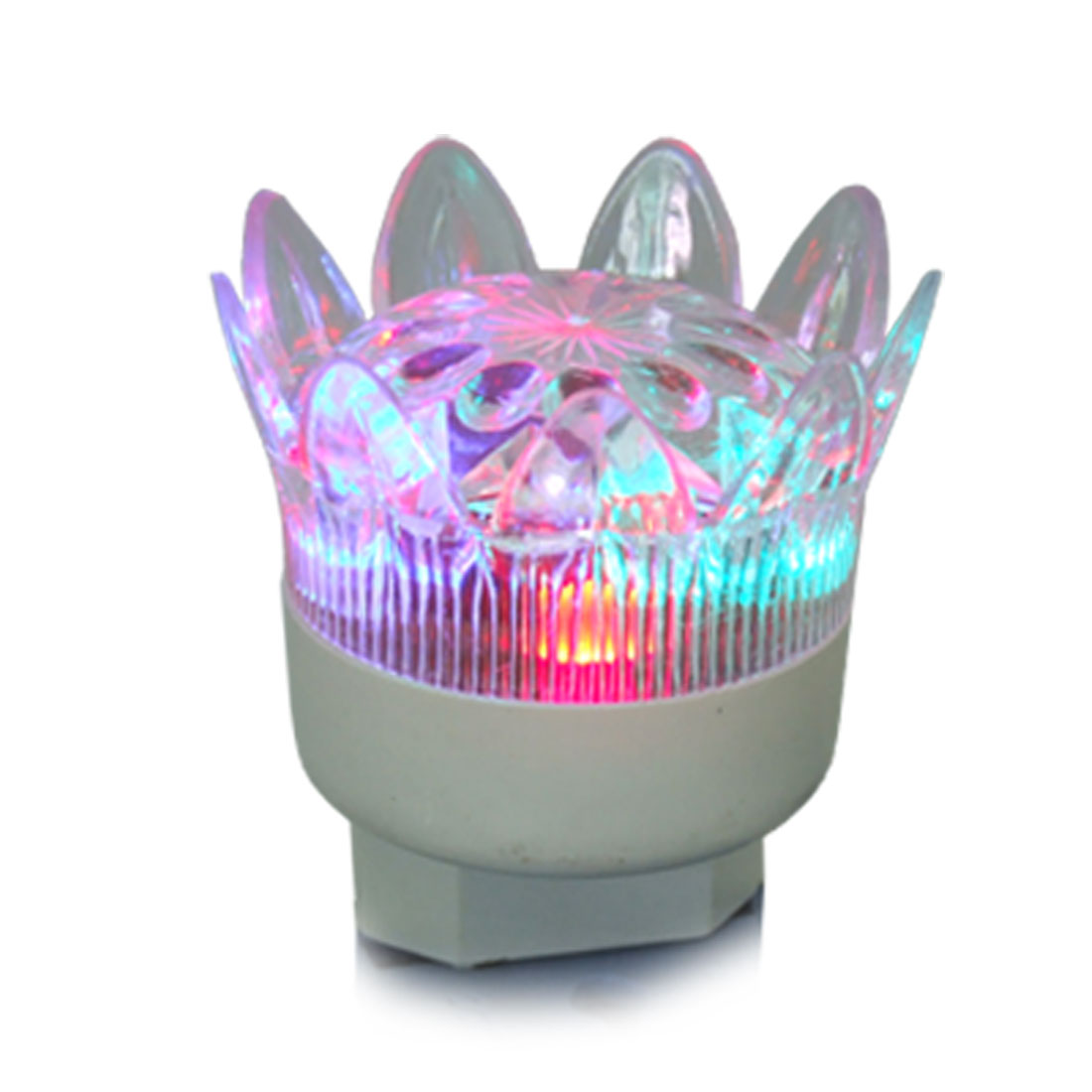 US Plug 220V AC Power Crown Head Style Multi Color Night Light