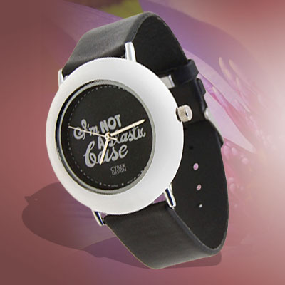 Fashion Jewelry Artistic Leather Quartz Wrist Watches Black