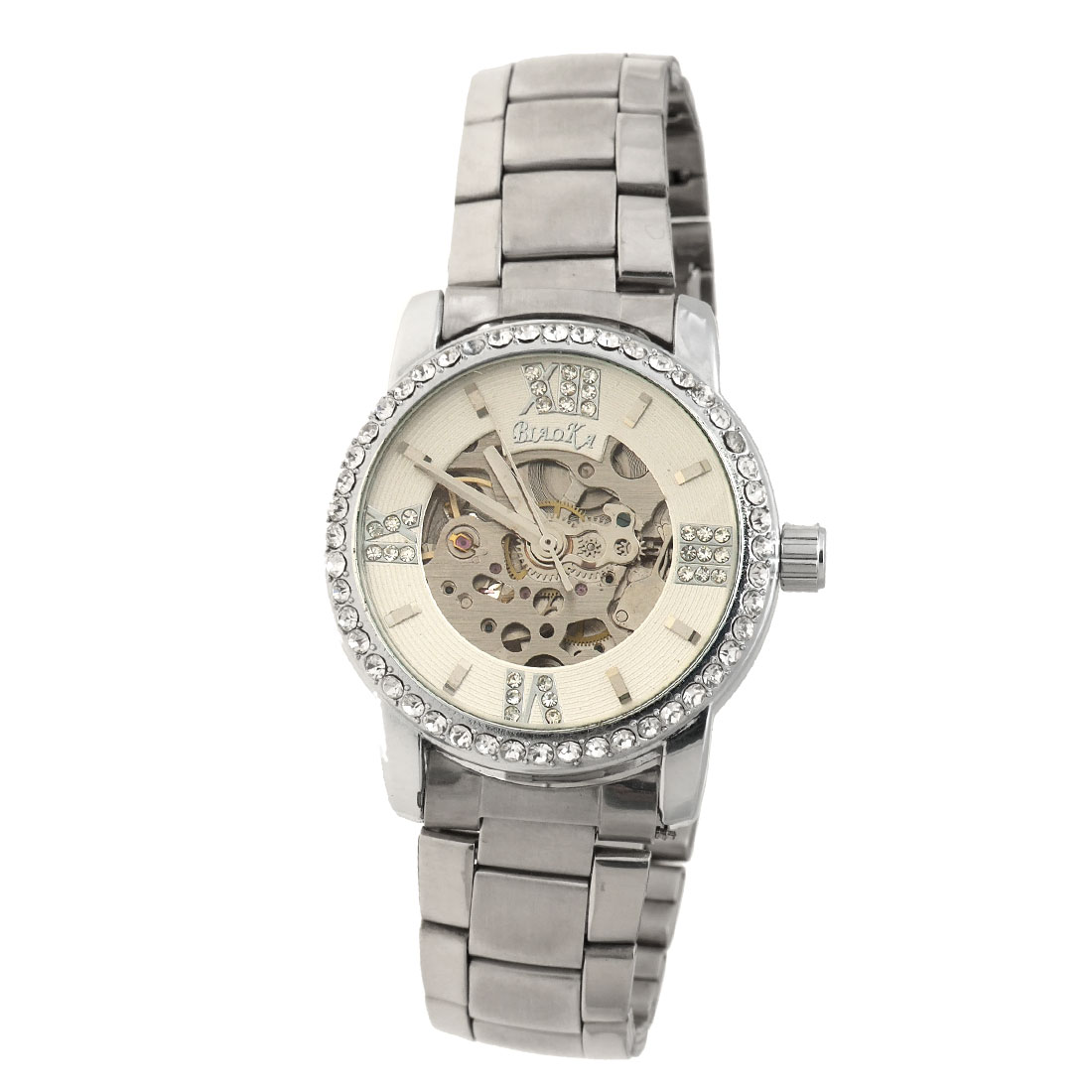 Fashion Jewelry Stainless Steel Mechanical Wrist Watch