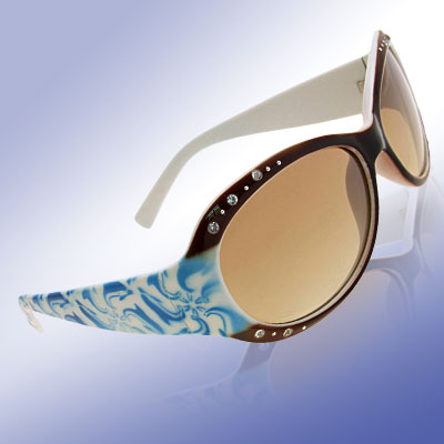 Crystalline Brown Fashion Eyewear Lady Sunglasses