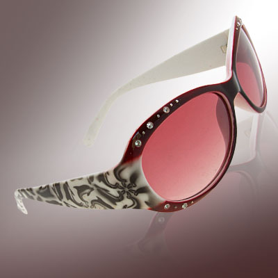 Crystalline Purple Fashion Eyewear Lady Rhinestone Sunglasses