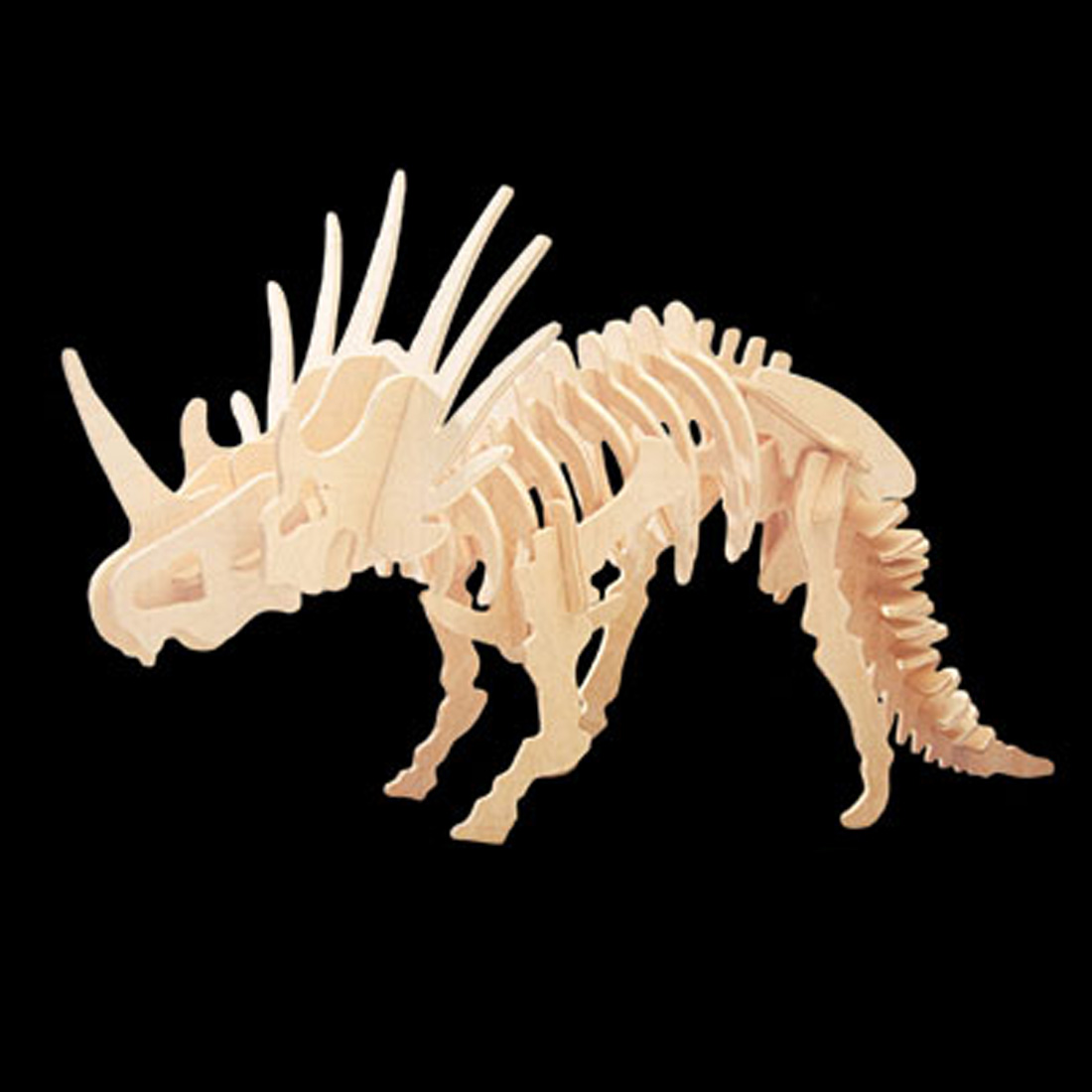Styracosaurus Dinosaur Woodcraft Construction Kit Model Puzzle for DIY Lover