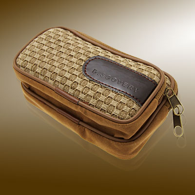 Classic Nut-Brown Leather Case for MP3 Cell Phone