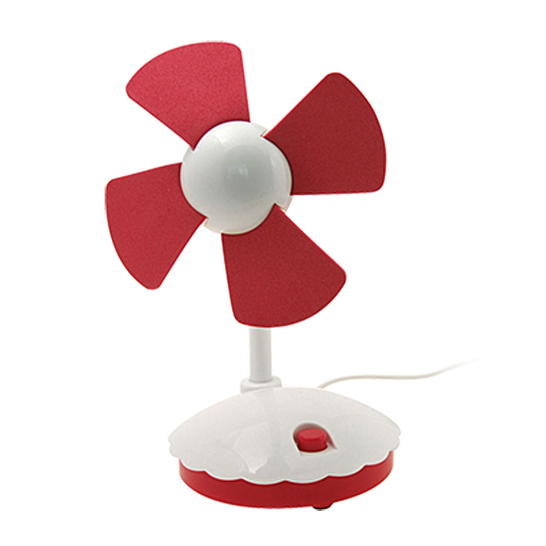 Sunflower Computer USB Desk Fan Red and White (HK-F2023)