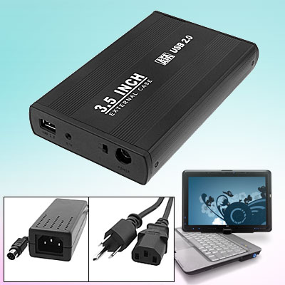 "USB 2.0 3.5"" SATA HDD External Removable Hard Disk Drive Case Box"