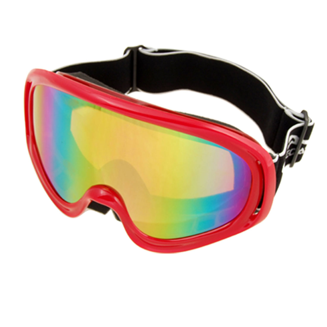 Fashion Ski Snowboard Sports Glasses Goggles Color Coated Lens Red Frame