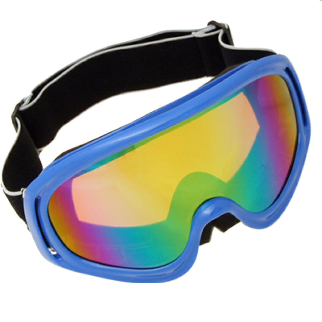 Aspen Spectrum Ski Goggles - UV Protection Color-Coated Lens in Blue Frame