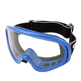 Fashion Ski Snowboard Skate Sports Glasses Goggles Transparent Lens and Blue Frame