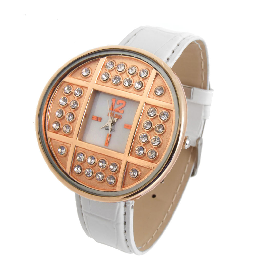 Fashion Jewelry GOLDENen Copper Cash Wrist Watches White