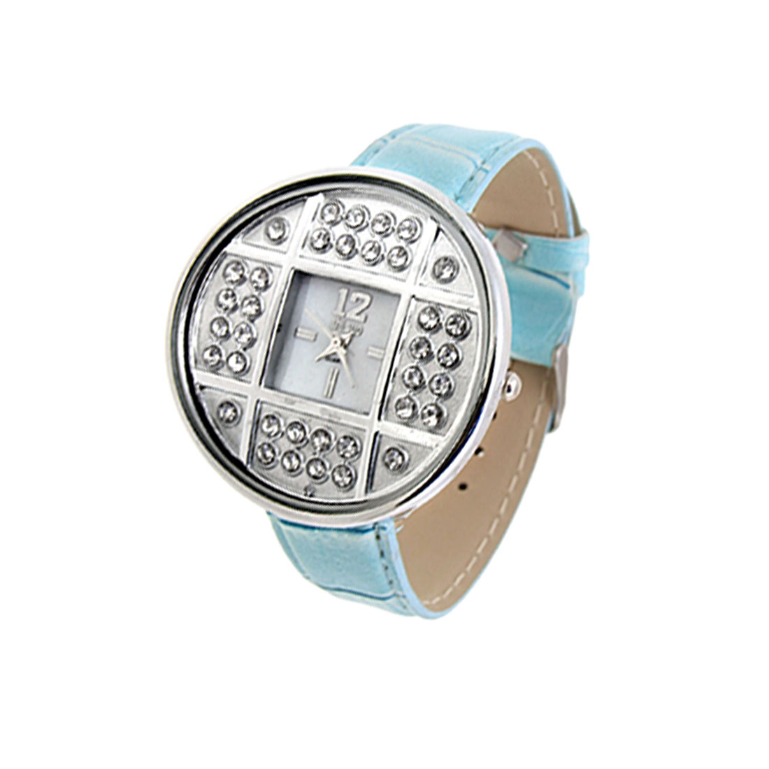 Fashion Jewelry Silver Copper Cash Ladies Wrist Quartz Watches Blue