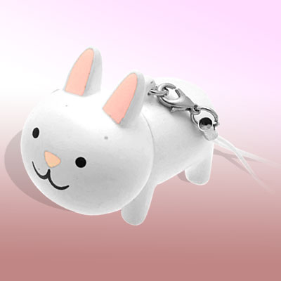 Cute Rabbit Key Chain Retractable PDA Pen Phone Strap