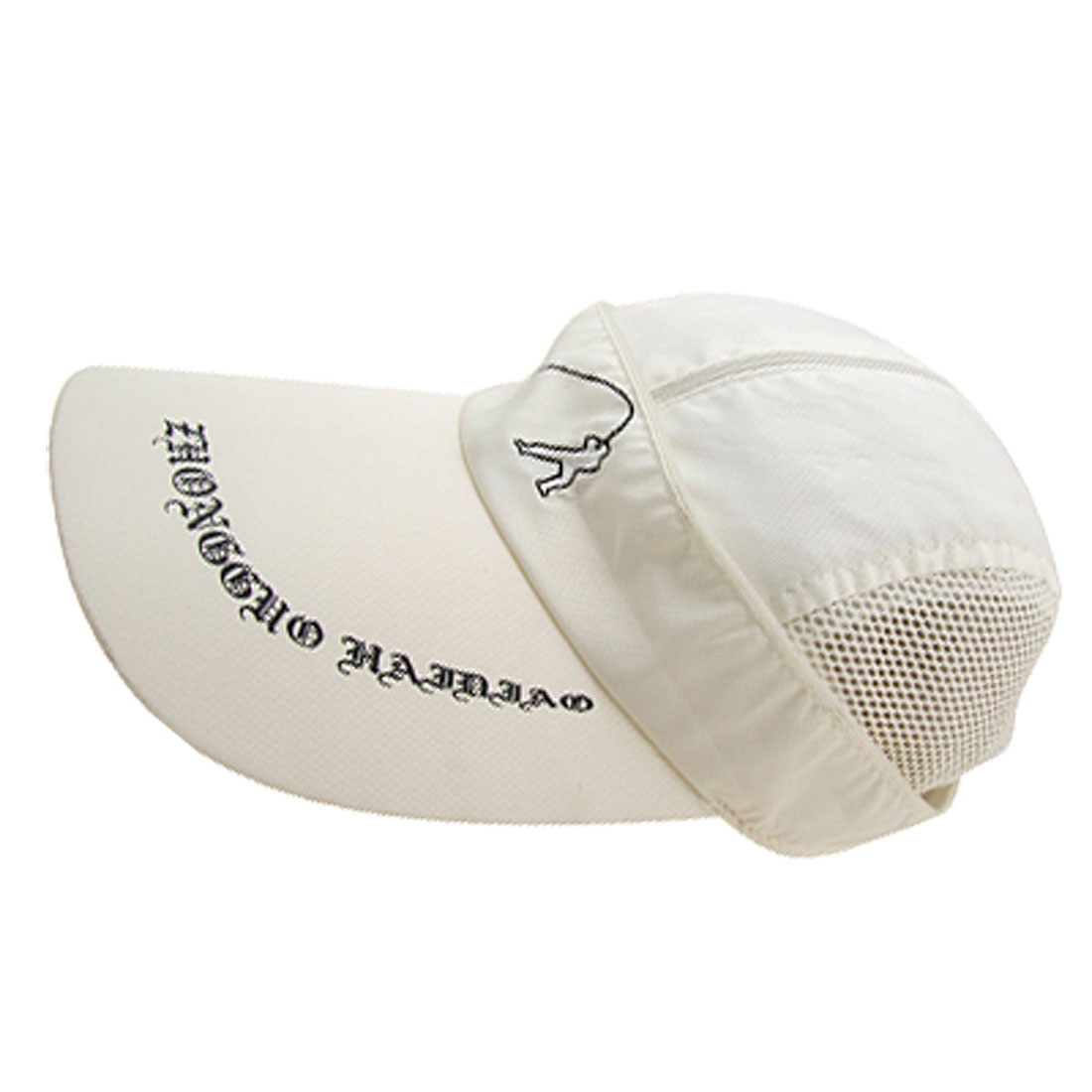 White Vintage Super Fisherman Fishing Mesh Trucker Hat Cap