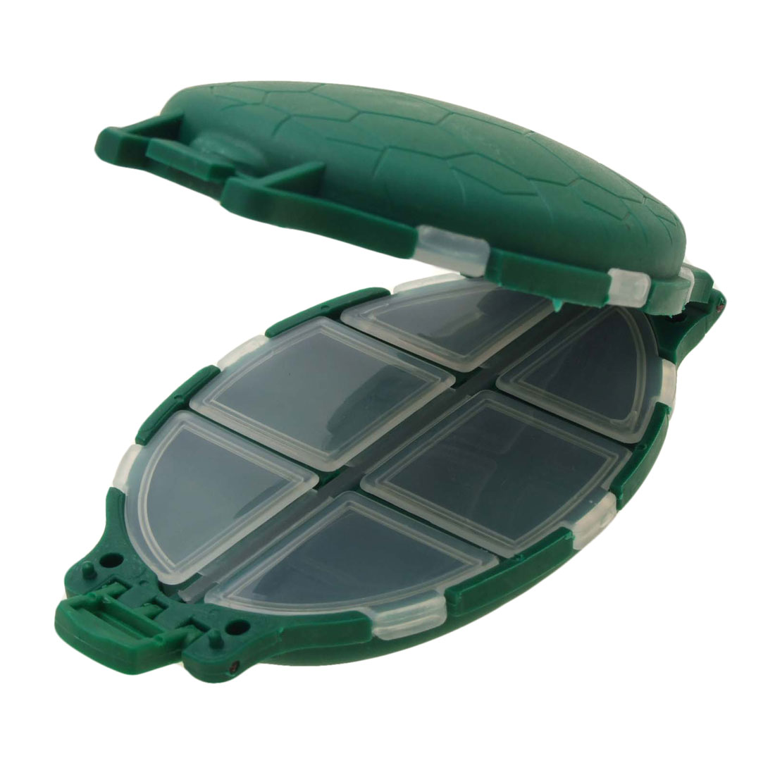 Green Portable Plastic Turtle Shaped Fishing Tackle Box