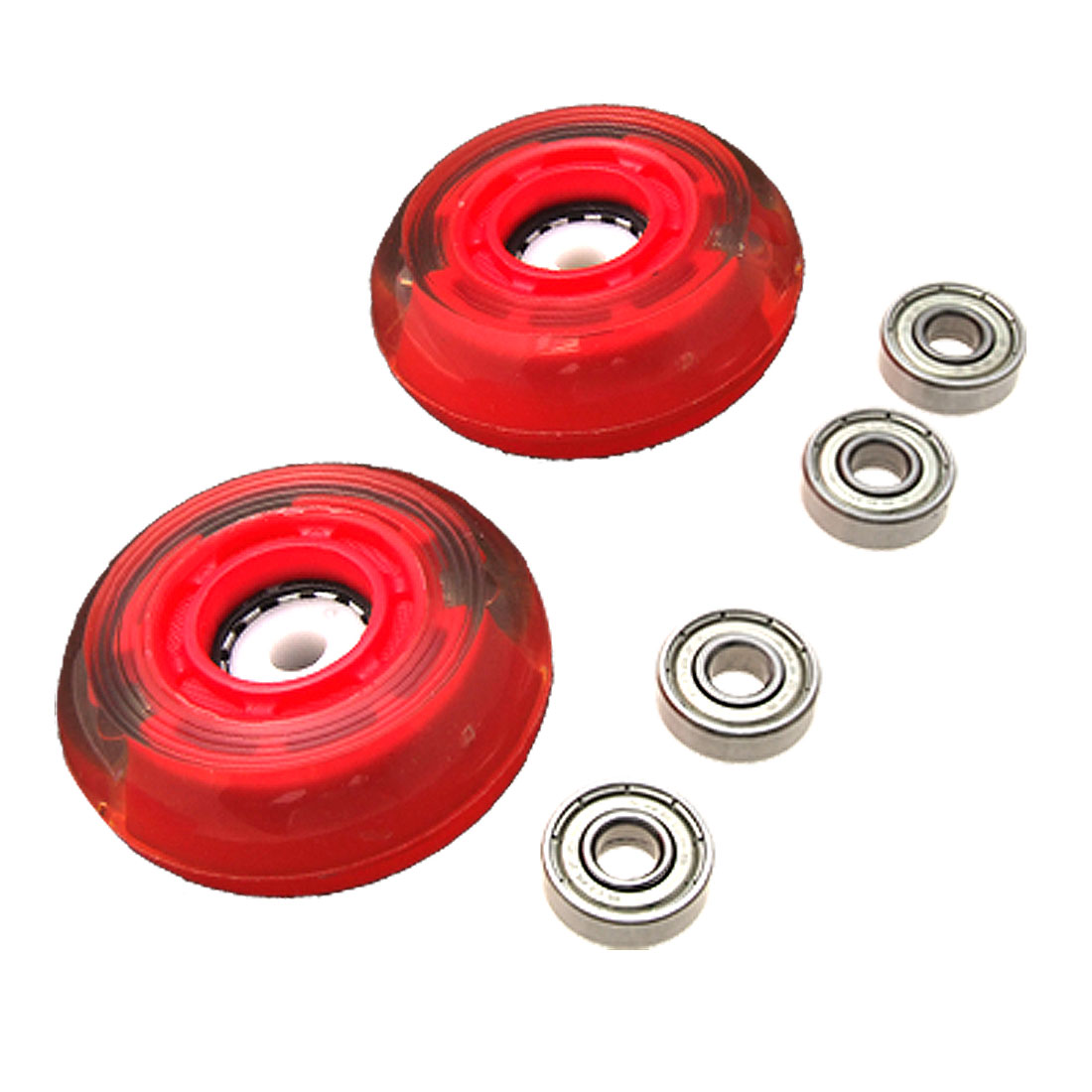 69mm 78A Roller Inline Skate Skateboard Wheels Replacement with Bearings
