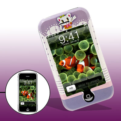 Cartoon Plastic Case with Aristo Cat Pattern for iPhone 1st Generation