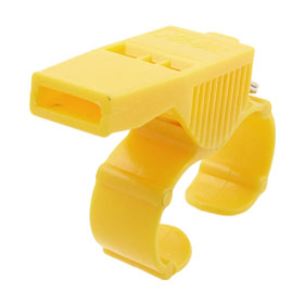 Referee Coach Sports Yellow Plastic Finger Whistle
