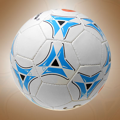 New Official Leather Soccer Ball Football Size 5 White and Blue