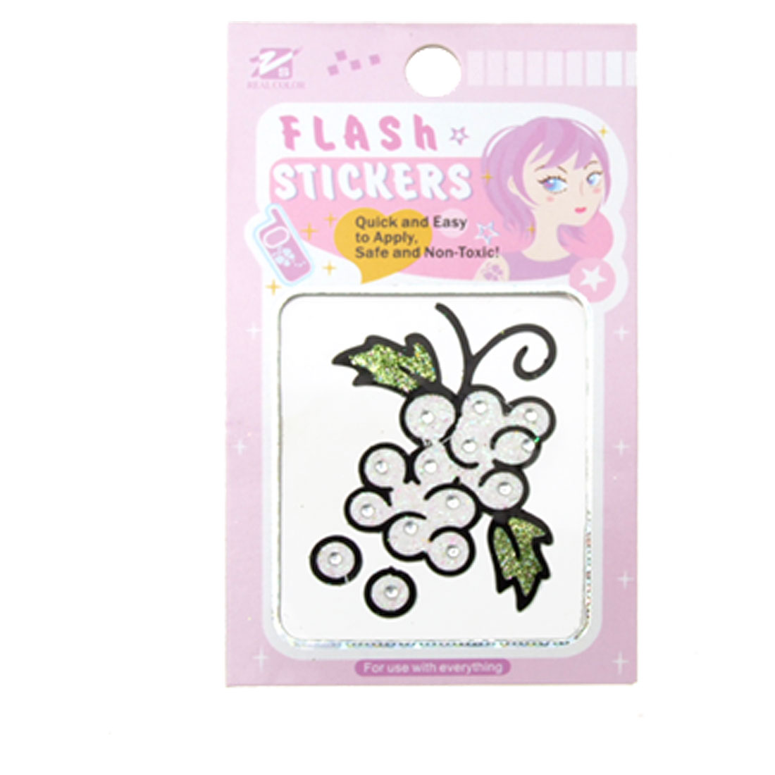Flash Transparent Diamond Grape Glitter stickers