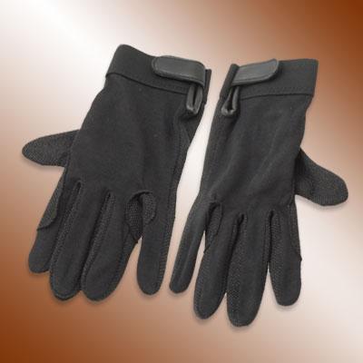 Medium One Pair Lady's Anti-Slip Black Cotton Driving Gloves