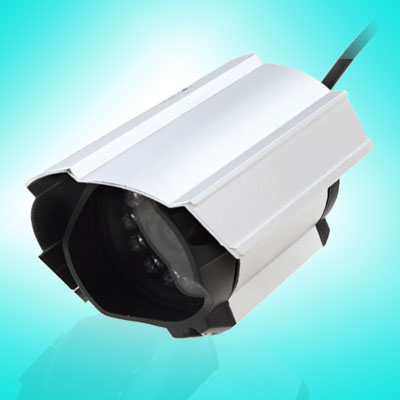 "1/4"" Color CCD PAL Video Security Camera Monitor w/12 LED"