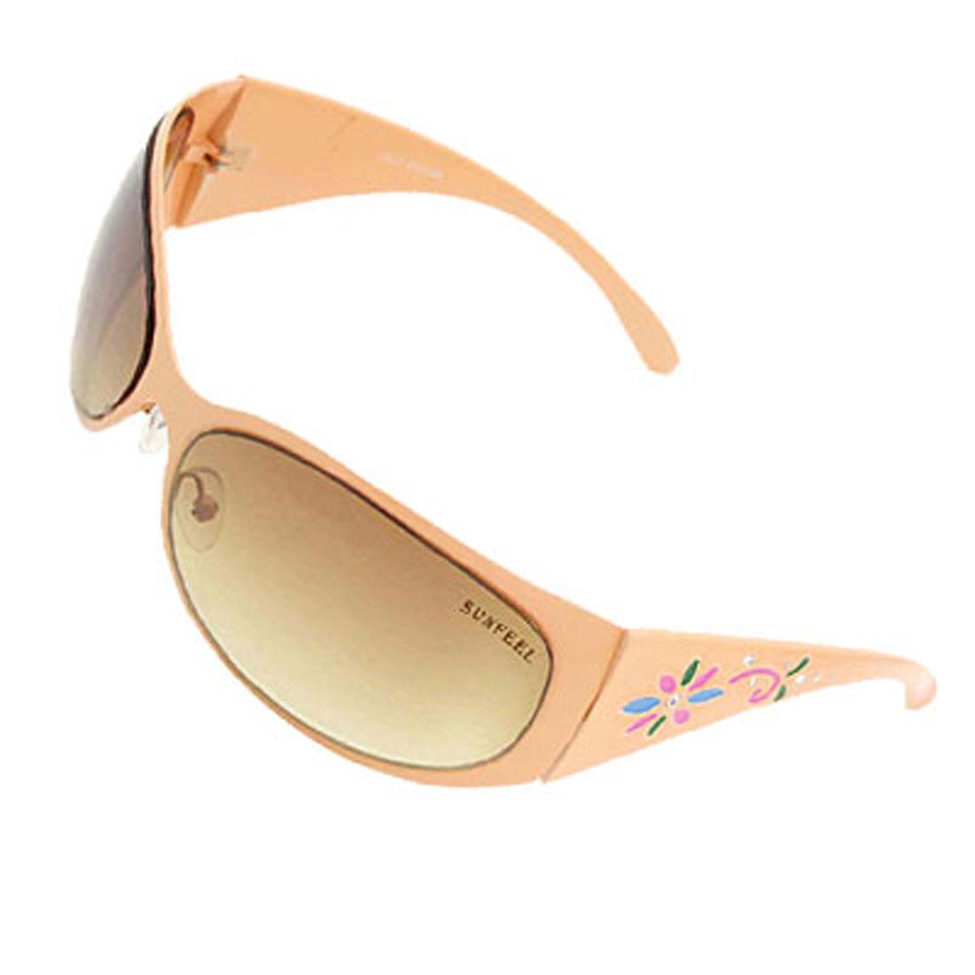 Amber Womans Stylish Flower Fashion Metal Frame Sunglasses
