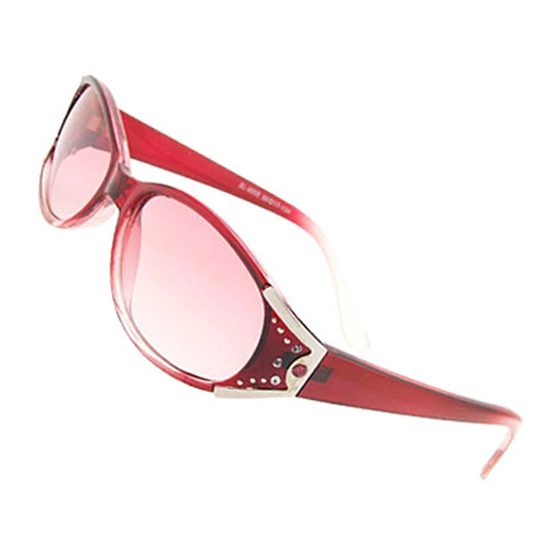 Transparent Pink Girls Fashion Rhinestone Sunglasses