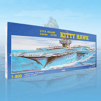 Kitty Hawk Aircraft Carrier CV-63 Model DIY Toy