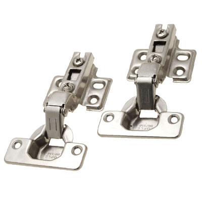 Inset Concealed Cabinet Furniture Door Hinge Hardware 2 Pcs