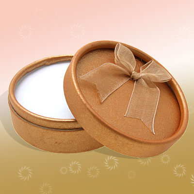New Saffron Round Jewelry Ring Earring Gift Present Box Case