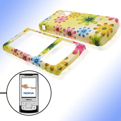 Stylish Flower Pattern Plastic Case Cover for Nokia 6500