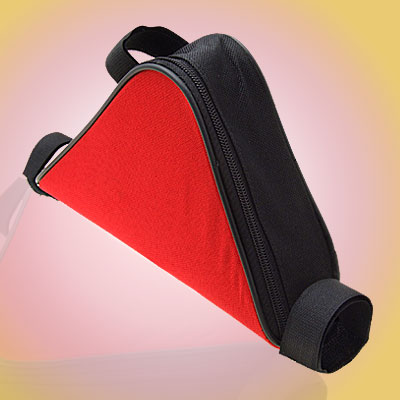 New Bicycle Bike Triangle Frame Bag Mountain Cycling Red