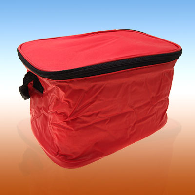New Folding Lunch Drink Bicycle Bike Rack Insulated Bag Red