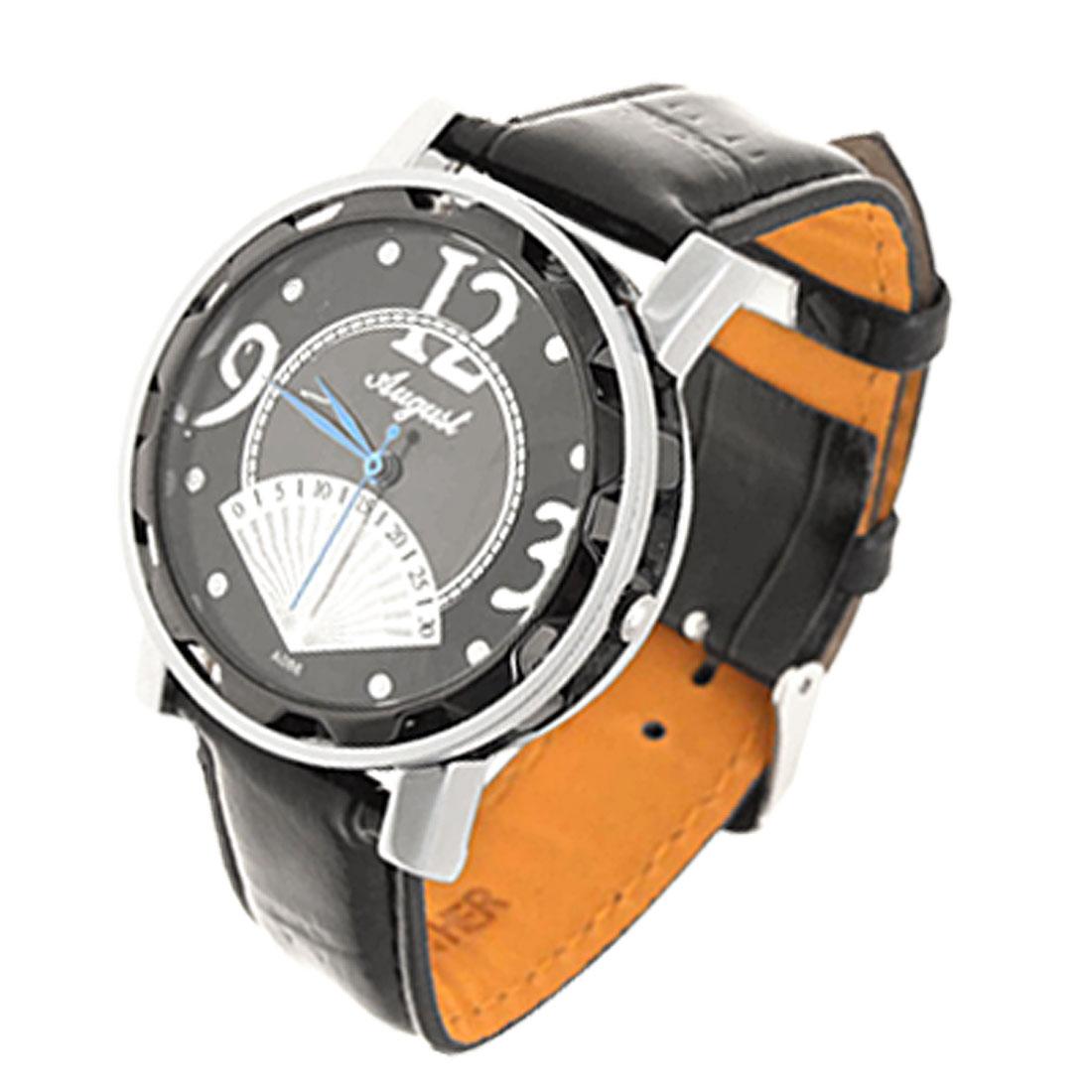 Fashion Unisex Novelty Black Leather Quartz Watch