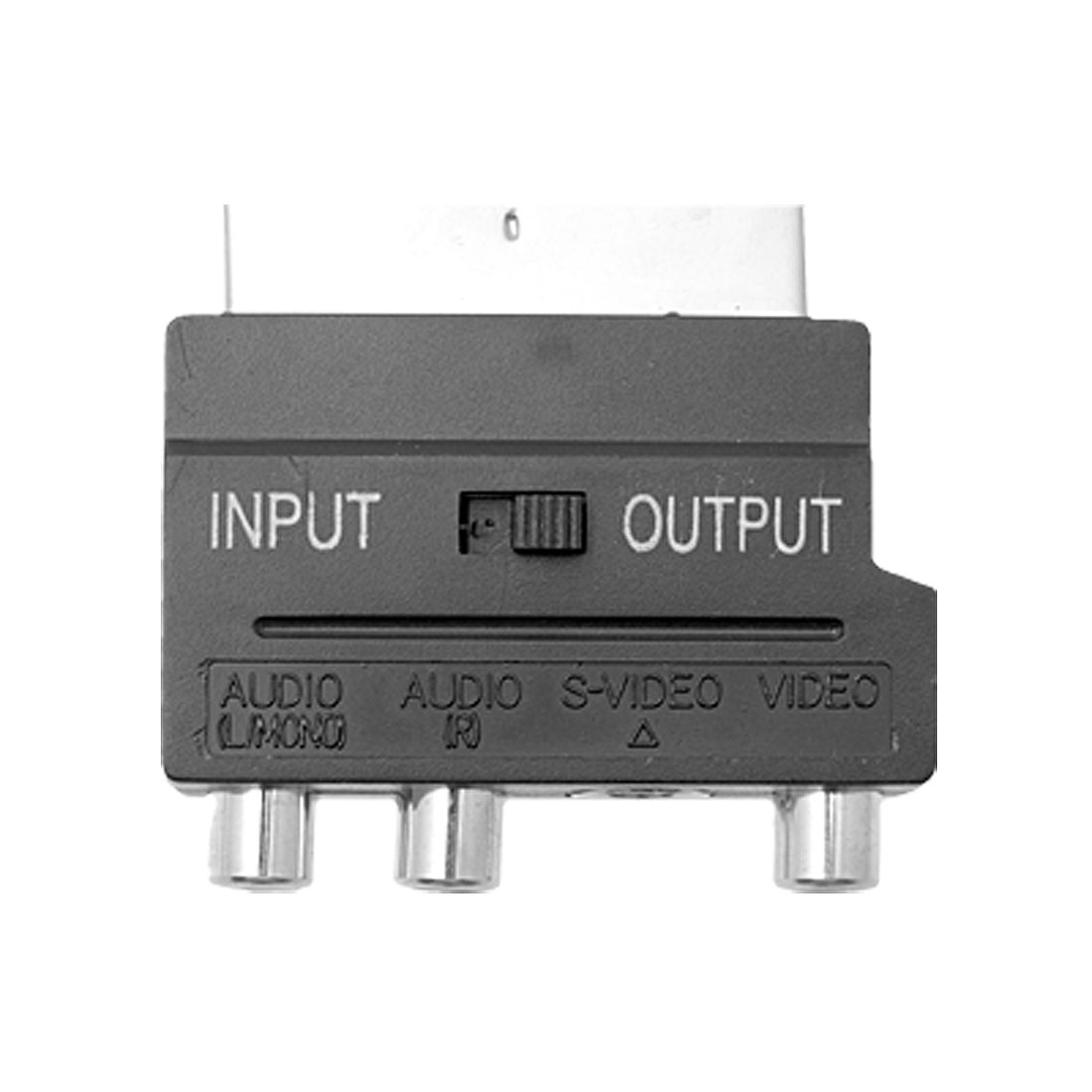 Scart to 3 RCA Phono SVHS TV Silver Adapter Converter