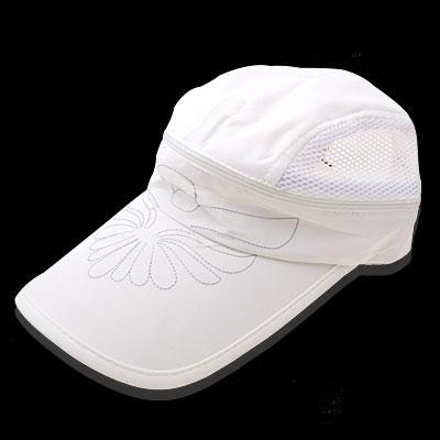 New Flower Mesh Trucker Hat Sun Visor Baseball Cap Milk White
