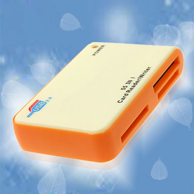 All in 1 USB 2.0 SD Memory Flash Card Reader Writer Beige