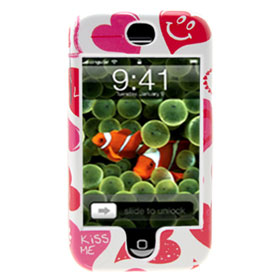 Fashion Heart Hard Plastic Cover for Apple iPhone 1st Generation