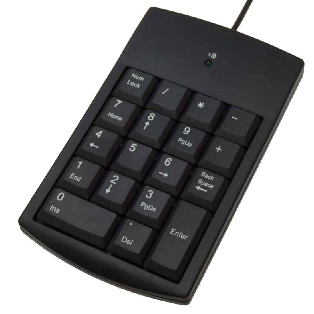 Black Digital Computer USB Keyboard