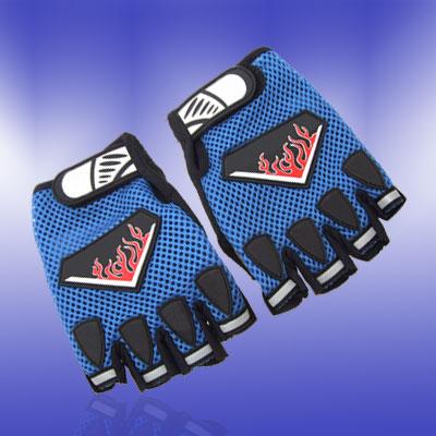 New Medium Fingerless Sports Mountain Bike Driving Gloves Blue