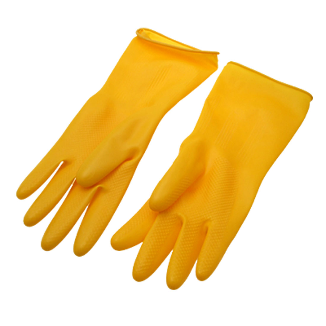 New Large Household Long Latex Rubber Gloves Yellow