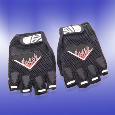 New Large Sports Driving Mountain Bike Fingerless Gloves Black