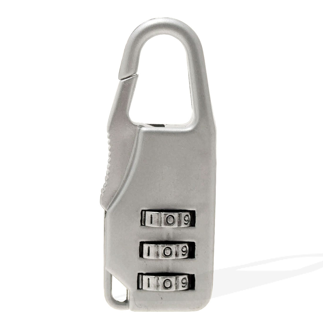 Silver Combination Resettable 3-Digit Padlock Lock