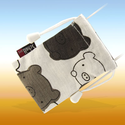 Cute Pig Pattern Cloth Pouch for Cell Phone / Mp3
