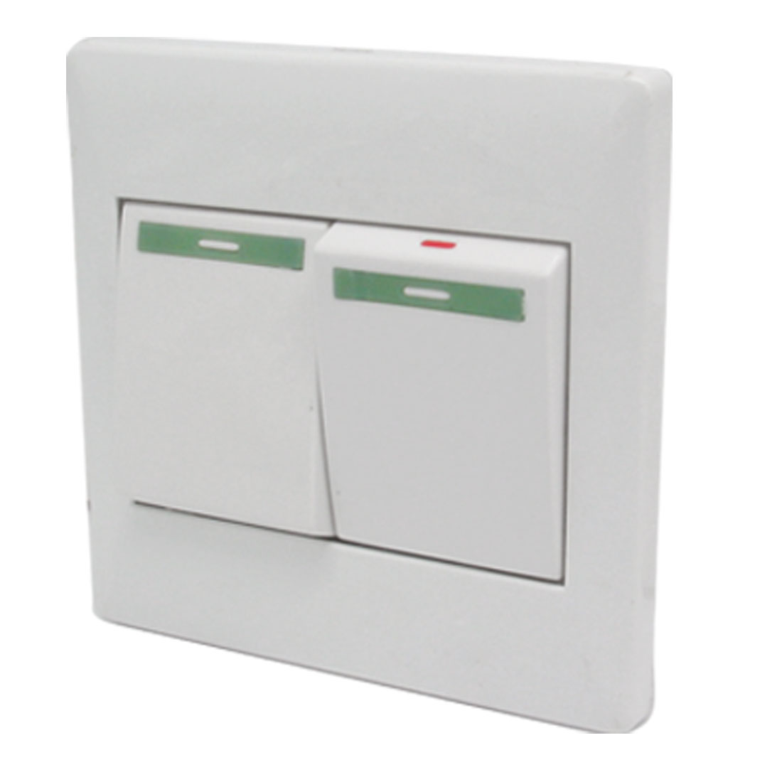 2 Gang Big Button Light On Off Switch Wall Plate ( 10A 250V )
