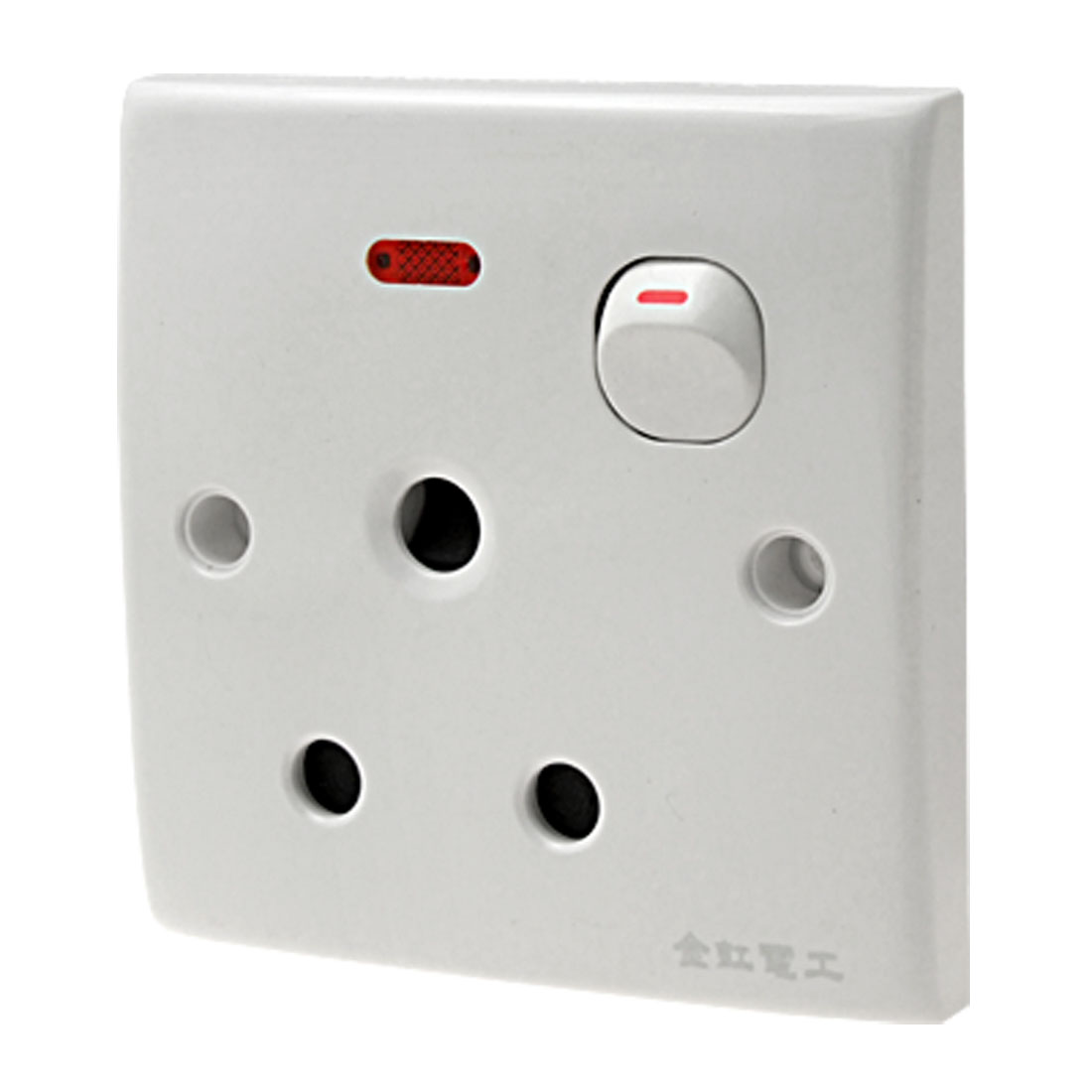 16A AC250V South Africa Socket W Switch Indicator Wall Plate