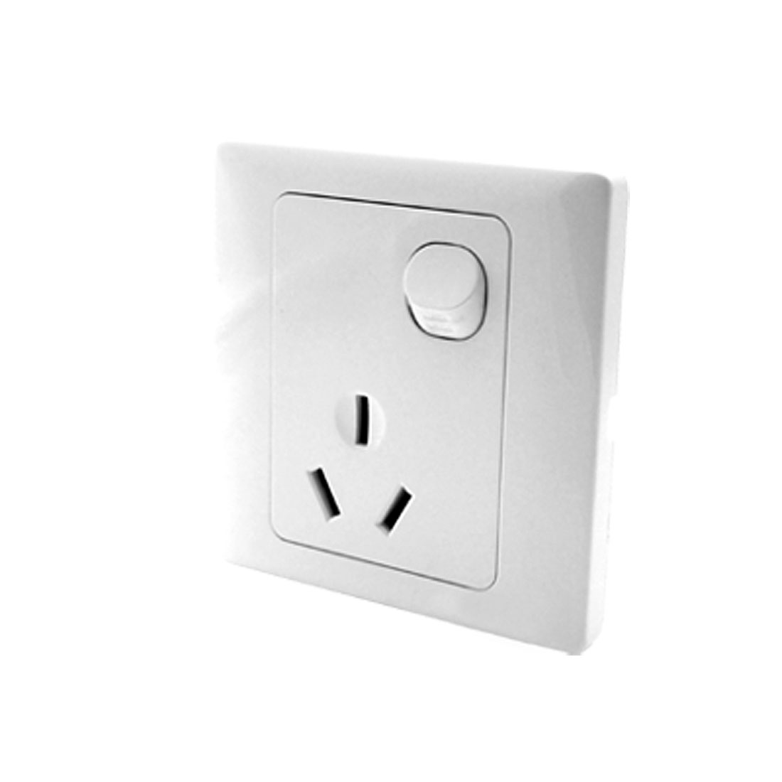 AC 250V 16A AU Outlet Socket 1 Gang Button Wall Plate Switch White
